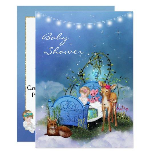 De verrukte Blauwe Uitnodiging van het Baby shower