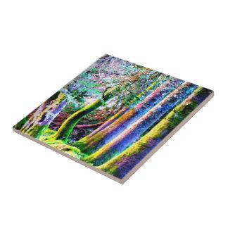 De verrukte Bos Abstracte Tegel van de Kunst Keramisch Tegeltje