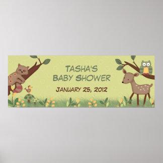 De verrukte BosBanner van het Baby shower Poster