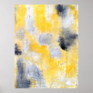 """De """"verschillende"""" Zwarte en Gele Abstracte Druk Poster"""