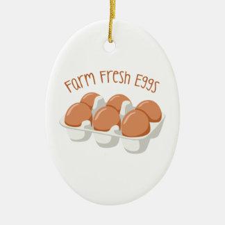 De Verse Eieren van het boerderij Keramisch Ovaal Ornament