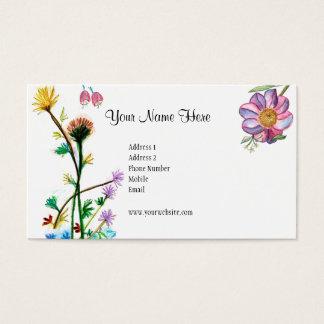 De verse Kaart van Bloemen Visitekaartjes
