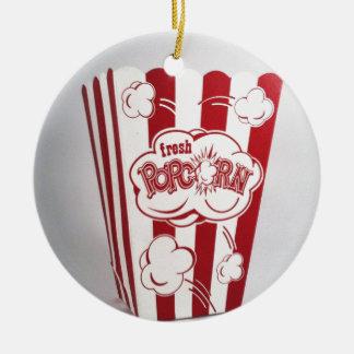 De verse rode Wijnoogst van de Zak van de Popcorn Rond Keramisch Ornament