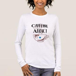 De verslaafde van de cafeïne t shirts