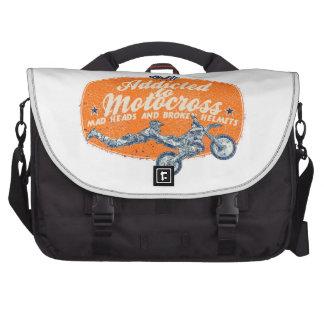 De verslaafde van de motocross laptop tas