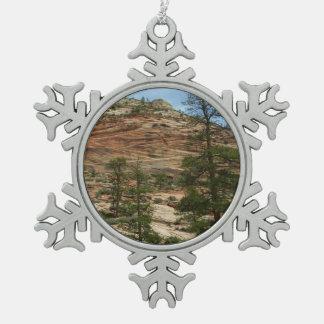 De versleten Muren van de Rots in Nationaal Park Tin Sneeuwvlok Ornament