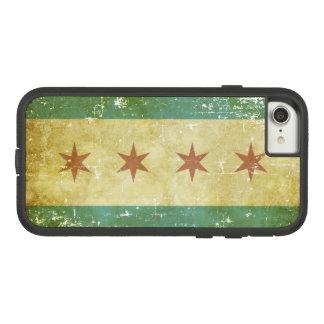 De versleten Patriottische Vlag van Chicago Case-Mate Tough Extreme iPhone 8/7 Hoesje