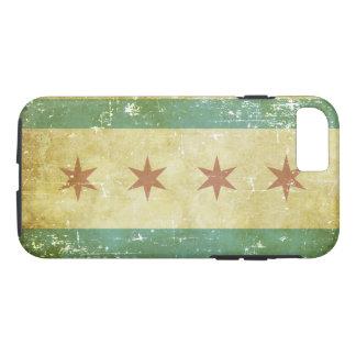 De versleten Patriottische Vlag van Chicago iPhone 8/7 Hoesje