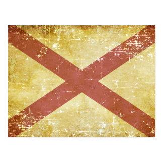 De versleten Patriottische Vlag van de Staat van Briefkaart