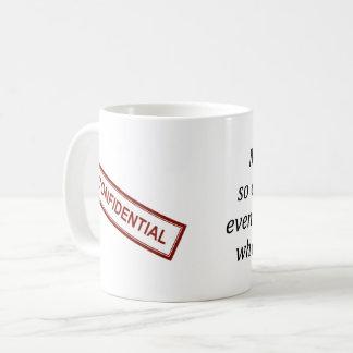 De vertrouwelijke Mok van de Koffie van het Werk