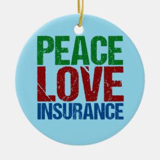 De Verzekering van de Liefde van de vrede Rond Keramisch Ornament