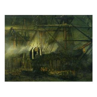 De verzending van de As van Napoleon aan boord Briefkaart