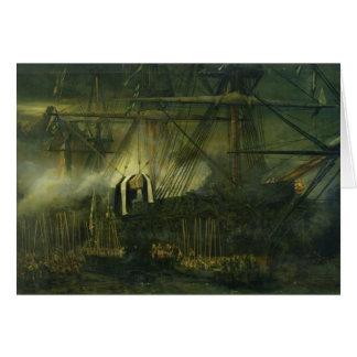 De verzending van de As van Napoleon aan boord Wenskaart