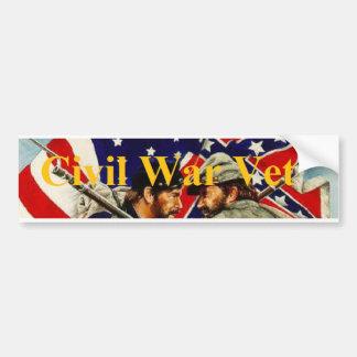 De Veteraan van de Burgeroorlog Bumpersticker
