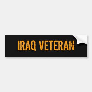 DE VETERAAN VAN IRAK BUMPERSTICKER