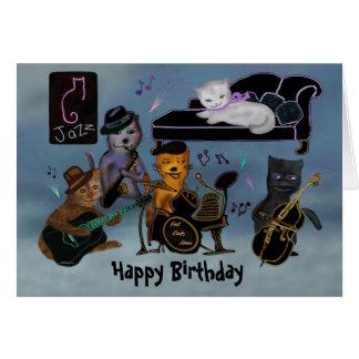 De vette Jam van de Verjaardag van Katten Briefkaarten 0