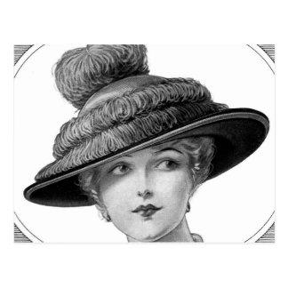 De Victoriaans Dame van het Pet Briefkaart