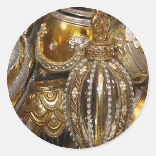 De victoriaans decoratie van de kerstboom ronde sticker zazzle for Decoratie van toiletten design