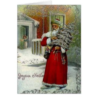 De Victoriaans Franse Kerstkaart van Joyeux Noel Kaart