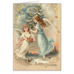 De Victoriaans Kaart van de Engel van Kerstmis