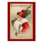 De Victoriaans Kaart van de Groeten van Kerstmis