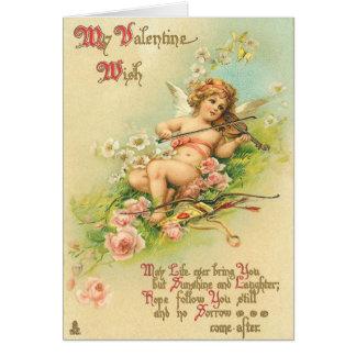 De Victoriaans Kaart van de Valentijnsdag