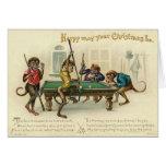 De Victoriaans Kerstkaart van de Aap