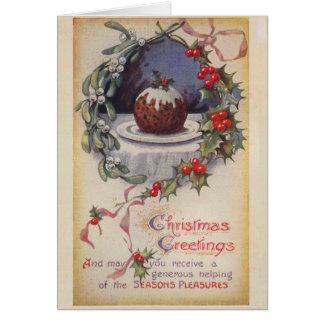 De Victoriaans Kerstkaart van de Pudding Figgy Kaart