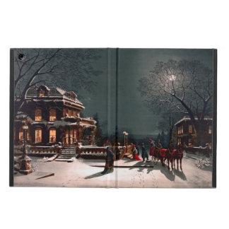 De Victoriaans Sneeuw van de Ar van het Herenhuis iPad Air Hoesje