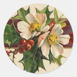 De Victoriaans sticker van Kerstmis van de