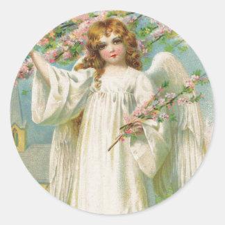 De Victoriaans sticker van Kerstmis van de Engel