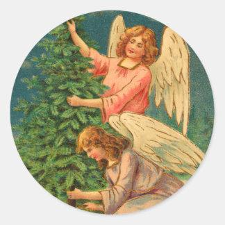De Victoriaans Stickers van de Engel van Kerstmis