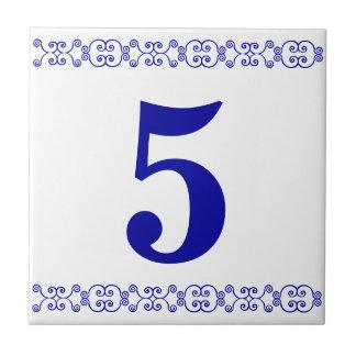De Victoriaans Tegel van het Huisnummer Tegeltje Vierkant Small
