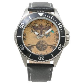 De Victoriaans Vlinder van Steampunk van Grunge Horloge
