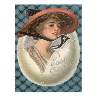 De Victoriaans Vrouw van het Paasei Briefkaart