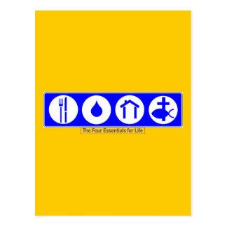 De vier Belangrijkste elementen voor het Leven Briefkaart