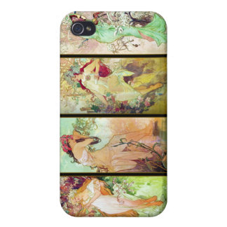 De vier seizoenen, Alphonse Mucha iPhone 4 Cases
