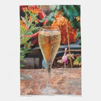 De Viering van Champagne van de herfst Theedoek