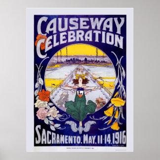 De Viering van de Verhoogde weg van Sacramento Poster