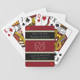 de vieringshuwelijk van de paarliefde speelkaarten