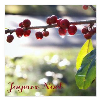 De Vierkante Kaart van Noel van Joyeux 13,3x13,3 Vierkante Uitnodiging Kaart