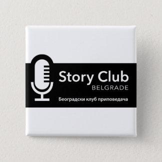 De Vierkante Knoop van Belgrado van de Club van Vierkante Button 5,1 Cm