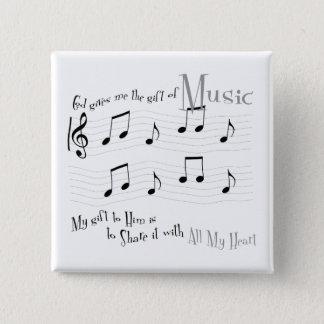 De Vierkante Knoop van de gift Vierkante Button 5,1 Cm