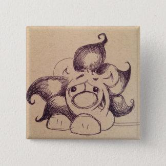 De vierkante knoop van de Leeuw van Olin Vierkante Button 5,1 Cm