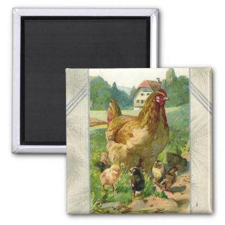 De vierkante magneet van vintage Pasen