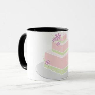 De vierkante Mok van de Cake van het Huwelijk