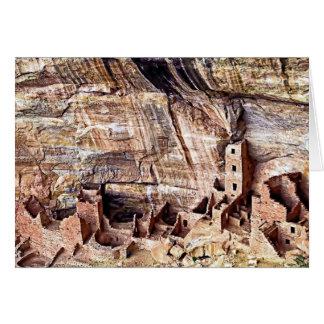 De vierkante Ruïnes Mesa Verde van het Huis van de Kaart