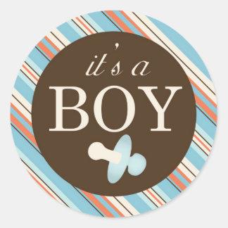 De Vierkante Sticker A OBB van de jongen