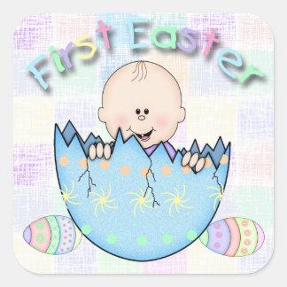 De Vierkante Sticker van de Jongen van het Baby va