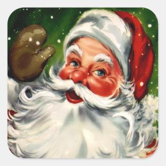 De vierkante Sticker van de Kerstman